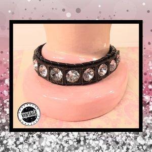 🎭 Vintage Rhinestone Bracelet